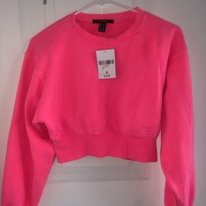 Forever 21 Neon Pink Crop Top